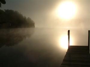 dock in mist
