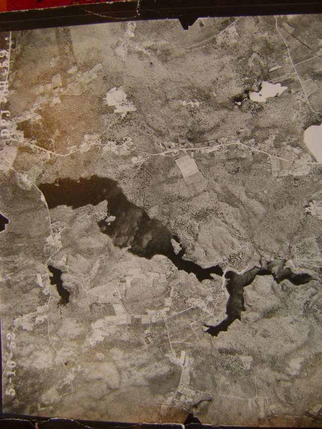 Aerial photograph of the lake, taken 05-16-1950.