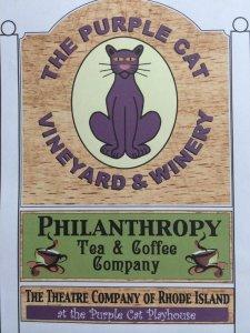 purple cat sign