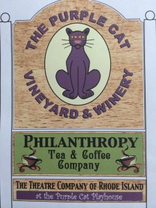 purple cat sign